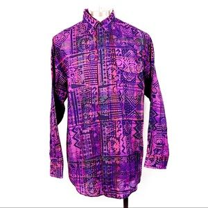 Panhandle Slim Purple WILD Button Down Shirt L